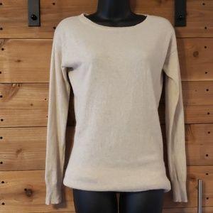 Ann Taylor 100% Cashmere tunic sweater in cream